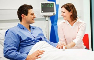 Couple on hospital room