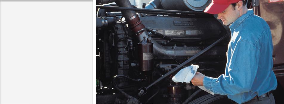 Mechanic repairing a truck