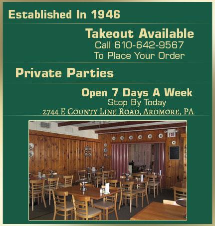 Marrone's Pizzeria - Italian Cuisine - Ardmore, PA