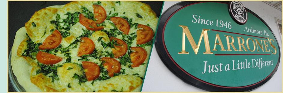 Marrone's Pizzeria - Contact - Ardmore, PA