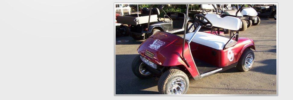 Red golf car