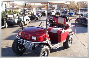 New red golf car