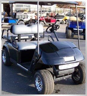 Black golf car