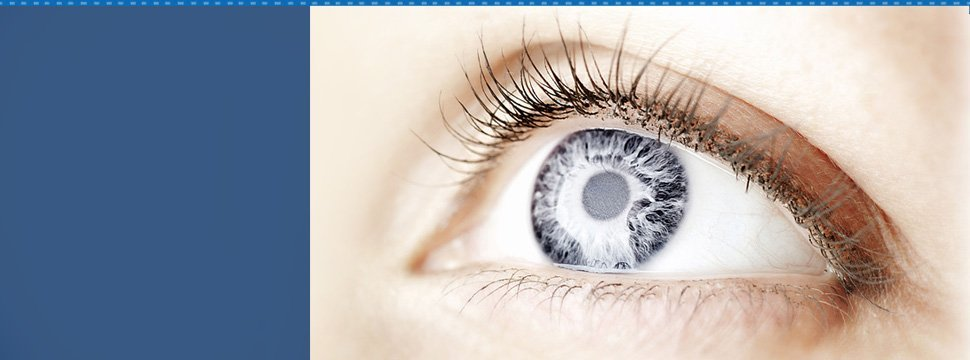 Grey colored eye