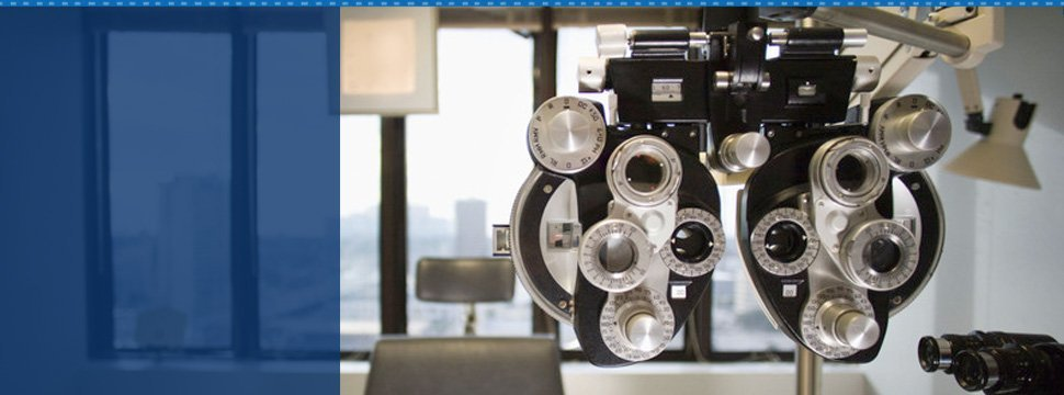 Eye machine inside clinic