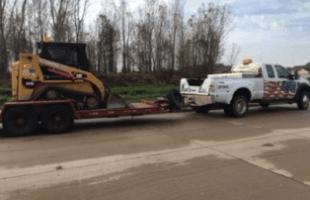 Bulldozer digging the soil
