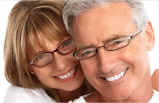Couple wearing nice eyeglass