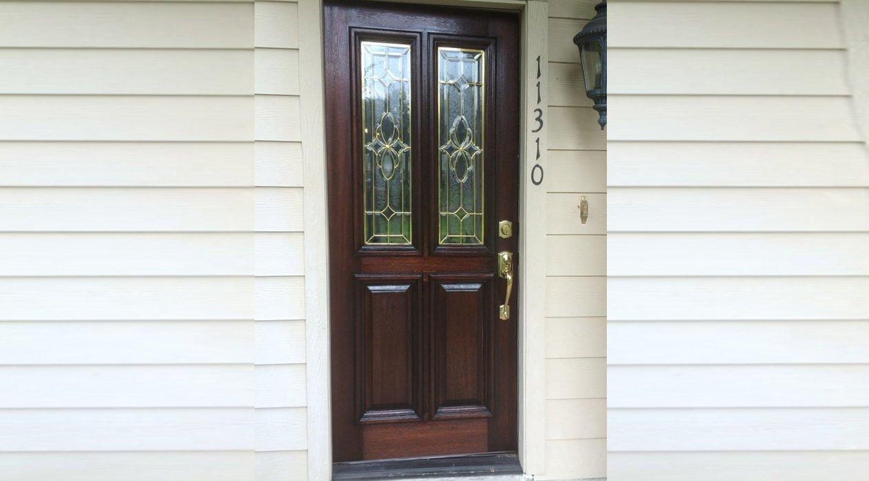 Front Door Refinish | Wood Door Repair | Houston, TX