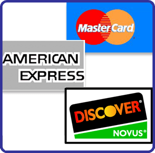 Four major credit cards