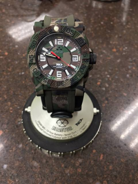 Watch with camouflage design