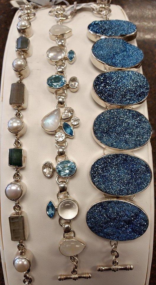 Different styles of bracelets