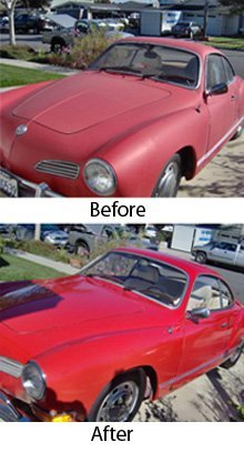 car detailing - Garden Grove, CA -   Tropic Shield Mobile Detailing - before and after car detailing