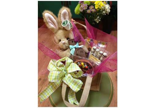 Floral gift baskets gunnison co misty mountain floral smile balloon easter gift basket negle Choice Image