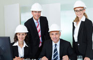 People in hard hat