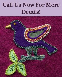 Patterns And Embroidery - Dade City, FL - Quilts On Plum Lane - embroidered bird - Call Us Now For More Details!