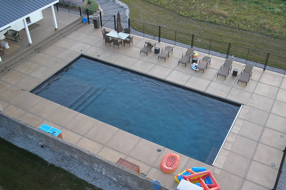 swimming pool - Rectangle Pool Aerial View