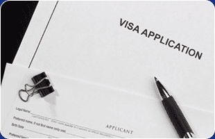 A visa application