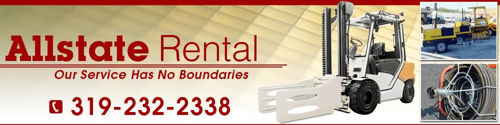 Equipment Supplies - Waterloo, IA - Allstate Rental