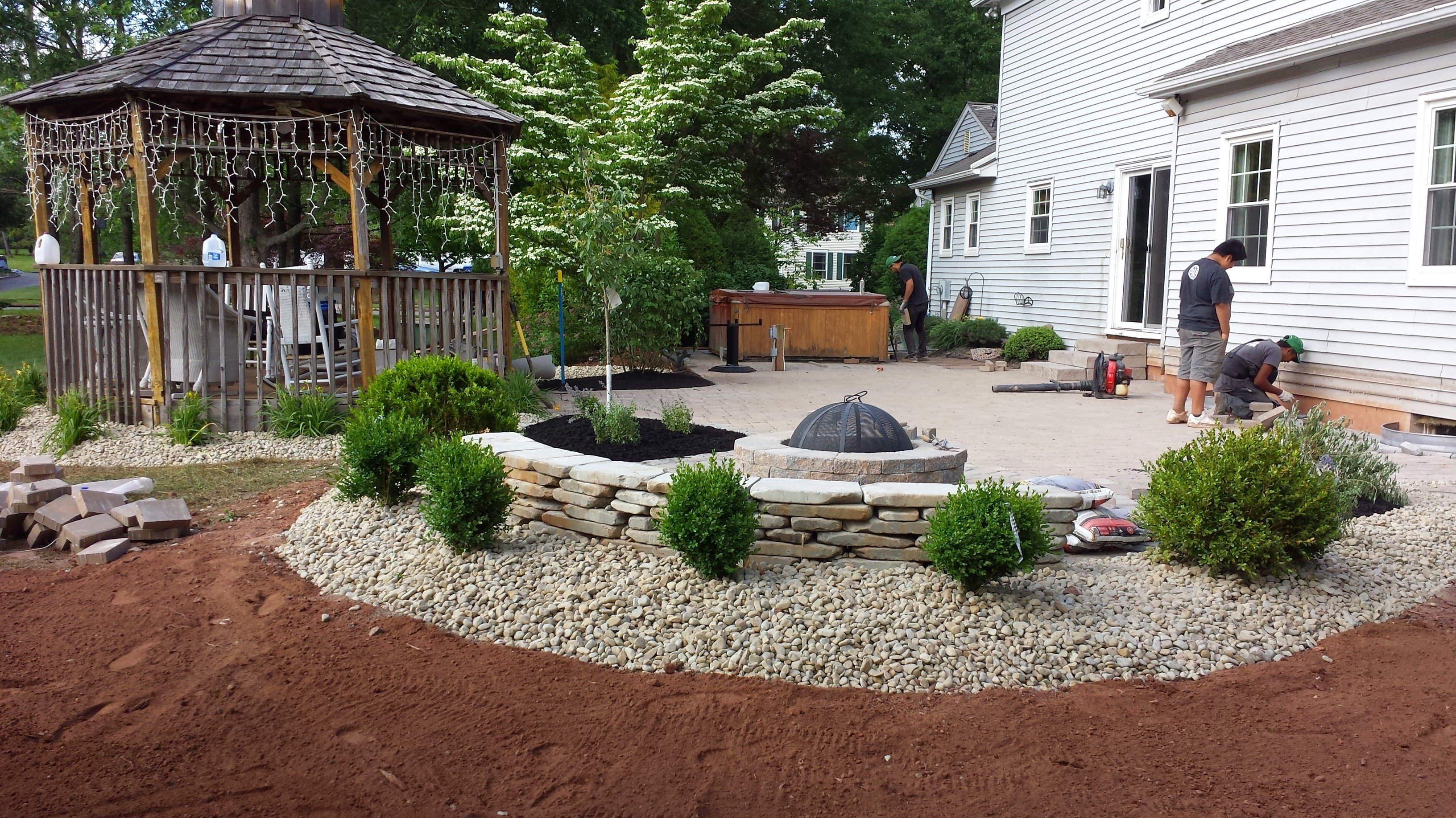 After Construction landscaping