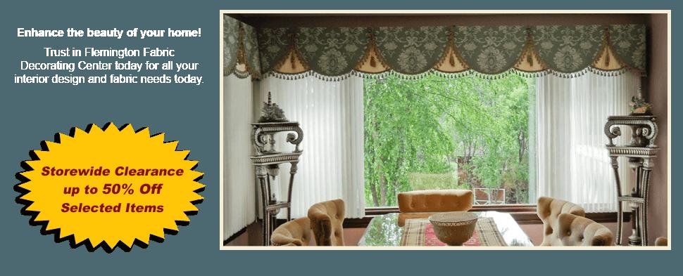 Home | Flemington, NJ | Flemington Fabric Decorating Center | 908-782-5111