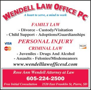 Wendell Law Office - Pierre, SD - Lawyer