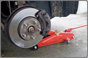 Car brake under repair