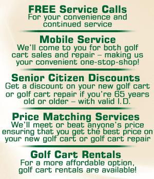 Golf Cart Repair - Ruskin, FL - South Shore Custom Carts
