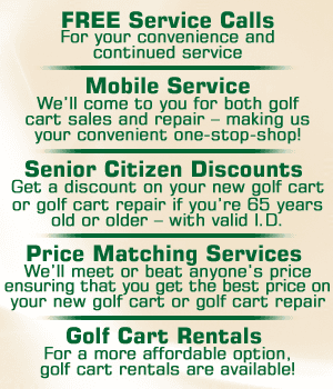 Golf Cart Sales - Ruskin, FL - South Shore Custom Carts