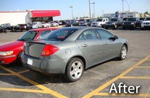 After photo of car dent repair