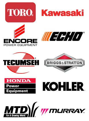 Toro, Kawasaki, Echo, encore, Tecumseh, Briggs & Stratton, Honda, Kohler, MTD, Murray