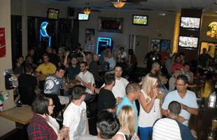 The playoffs bar area