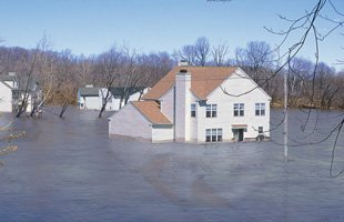 Home on a flood