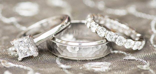 Diamonds used on wedding rings