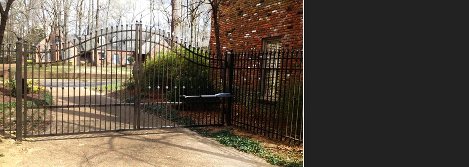 Iron gate of a beautiful house