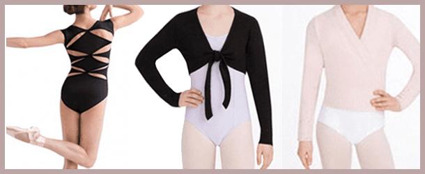 Girls wearing various forms of dancewear