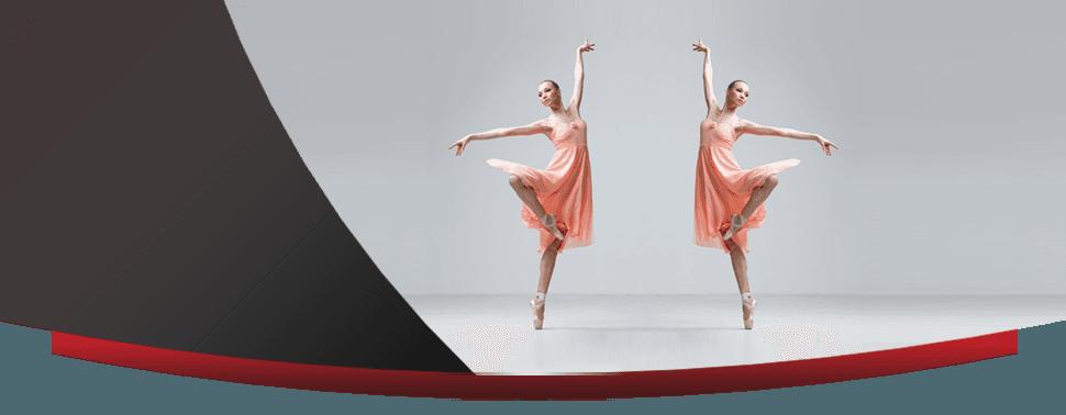 Ballet dancer in graceful pose