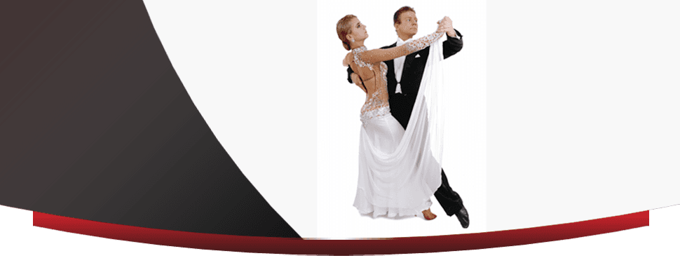 Man and woman in graceful ballroom dancing pose