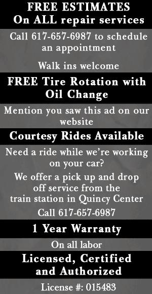 Auto Repair Shop  - Quincy, MA - A & W Motors