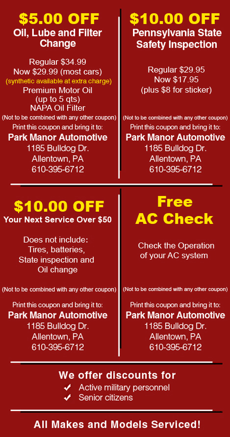 Classic Car Repairs | Allentown , PA | Park Manor Automotive | 610-395-6712
