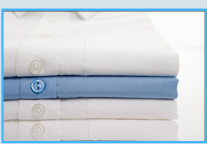 Folded polo shirts