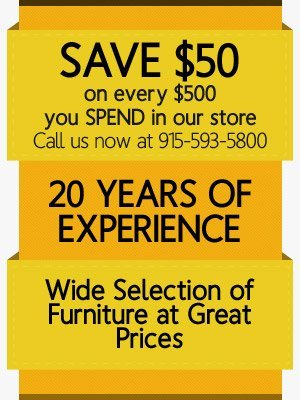 Furniture Store El Paso TX Mad Man Furniture Callout1