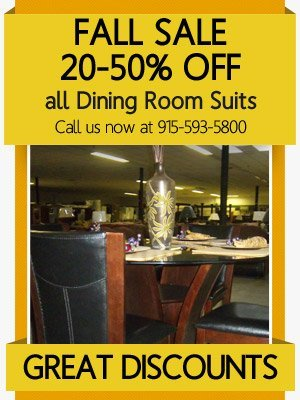 Dining Room Suits El PasoTX Mad Man Furniture Callout4