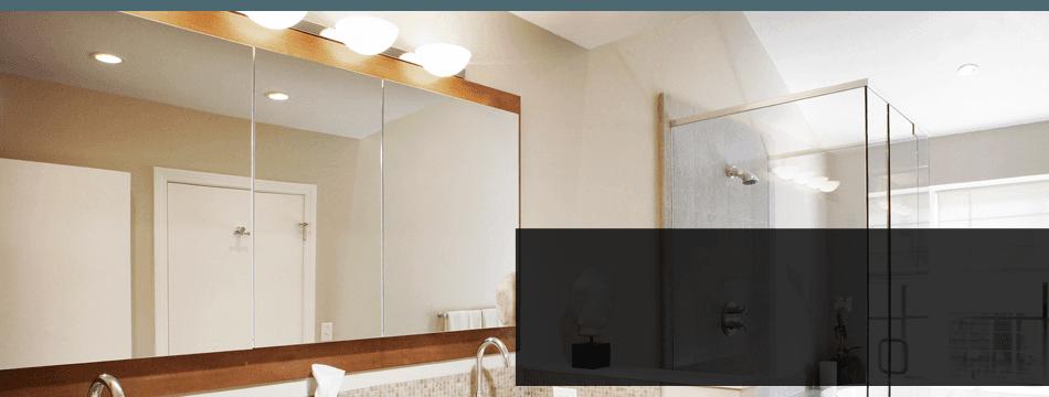 Customized mirror in bathroom
