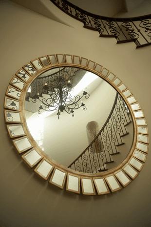 Custom mirrors in a house
