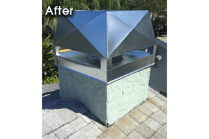 After image of chimney repair