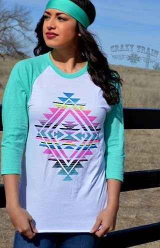 Women in aztec shirt