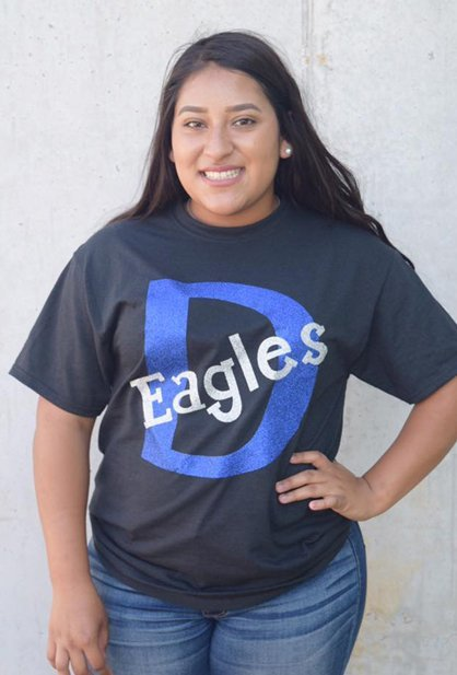 Girl in D eagles shirt