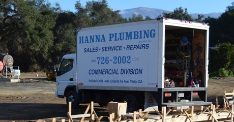 Hanna plumbing service truck