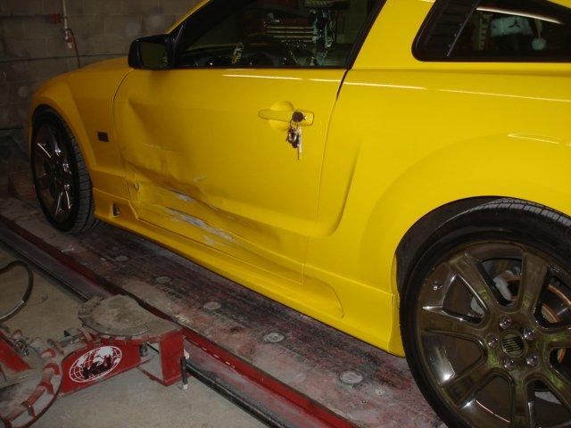 Car in workshop