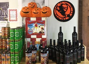 Assorted liquors for the Halloween
